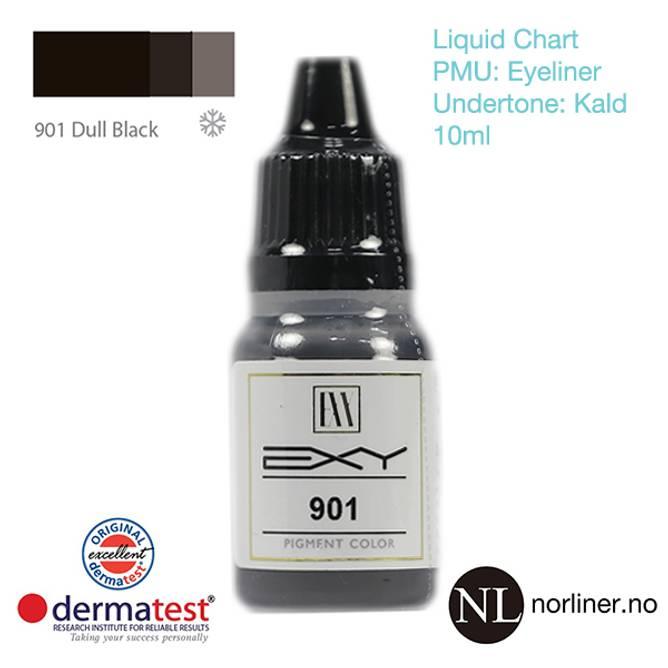 Bilde av MT-EXY #901 Dull Black til PMU Eyeliner [Liquid