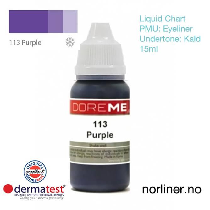 Bilde av MT-DOREME #113 Purple til PMU Eyeliner [Liquid
