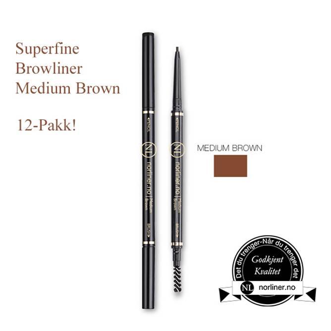 Bilde av NL-Superfine Browliner Medium Brown 12-Pakk!