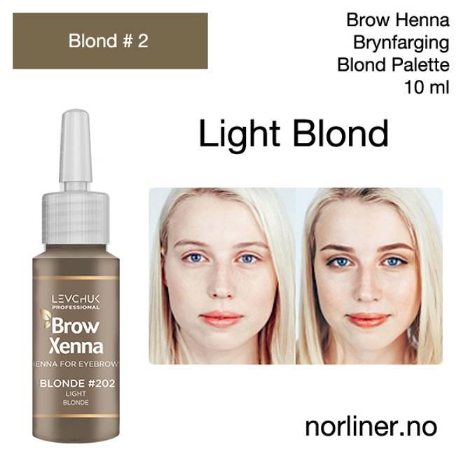 Bilde av LB-BH BROW XENNA Blond #2(202) Light Blonde 10ml
