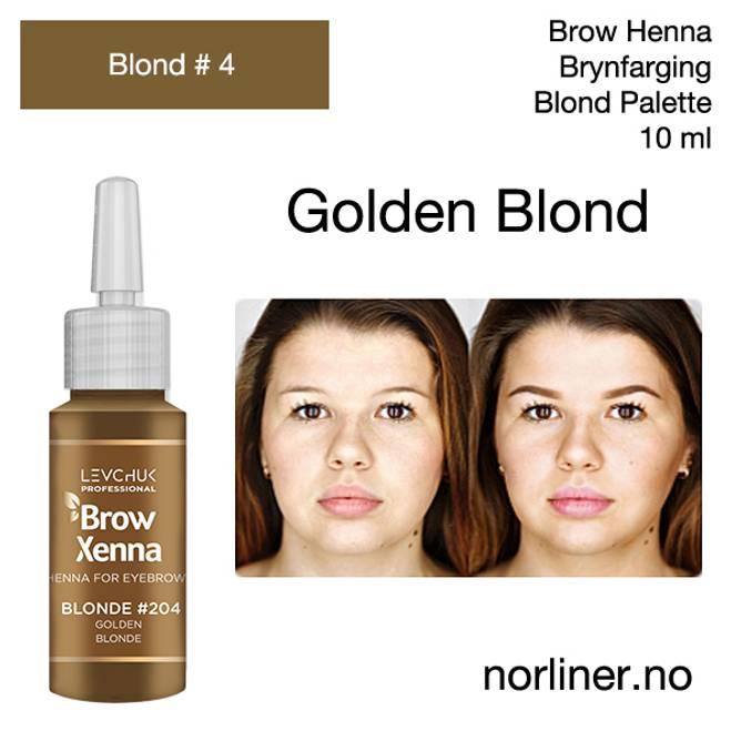 Bilde av LB-BH BROW XENNA Blond #4(204) Golden Blonde 10ml